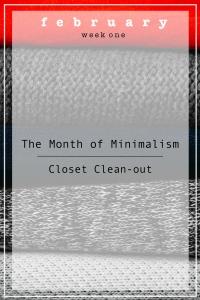 MINIMALISM WEEK 1
